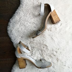 Barbara Barbier Y2K Leather Snake Skin Block Heel
